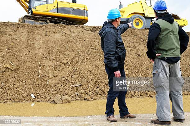 Engineers in a Road Construction Site