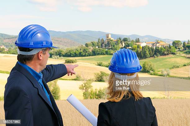 Engineers Planning in the Countryside