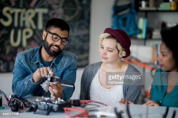 Ingenieure Arbeiten eines Start-Up-Unternehmens