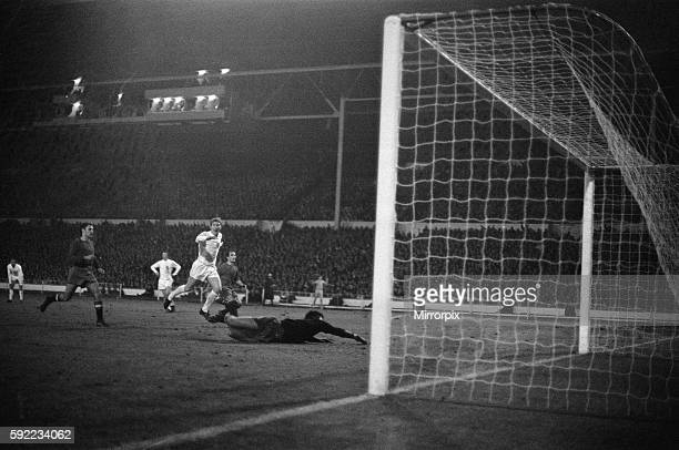 England 1 v Spain 0 Action from the match at Wembley 3rd April 1968