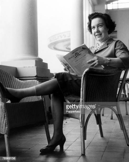 England 30th September 1962 Alice Bacon Labour member of Parliament for Leeds SouthEast rests her leg after a recent fall at home resulted in a...