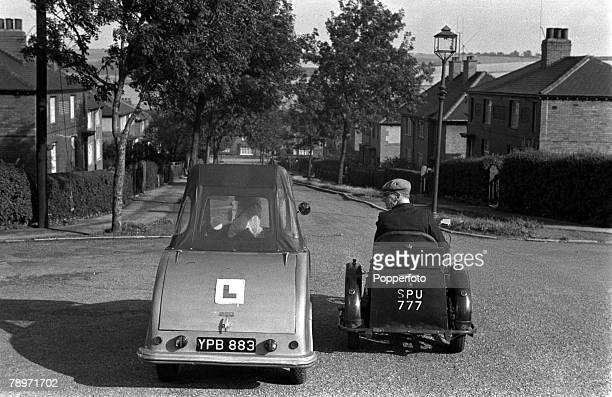 England A disabled couple are pictured in their customised transportation
