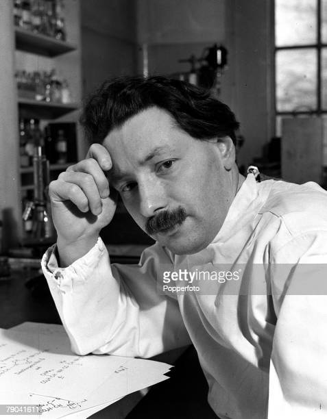 1946 England A picture of German born British Biochemist Dr Ernest Chain who helped isolate and purify Penicillin after Alexander Flemings discovery