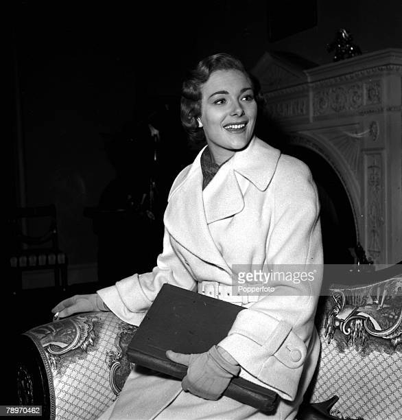 England A portrait of actress Ann Sears on the set of the film Mistress to Murder