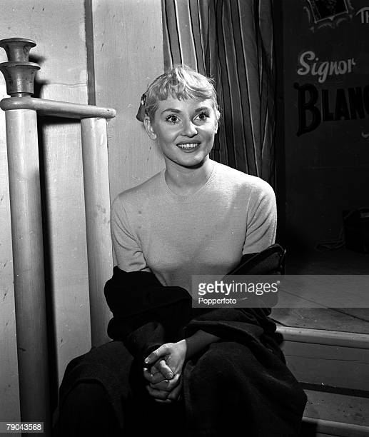 England A portrait of actress Diane Cilento on the set of the film A Star is Born