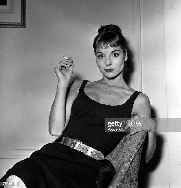 England A portrait of actress Elsa Martinelli at a press reception at the Mayfair Hotel for the film Manuela
