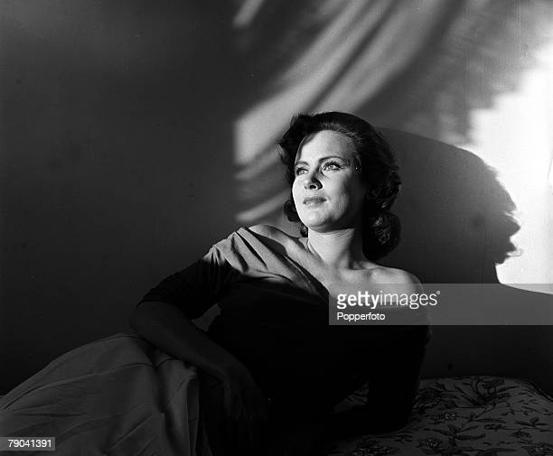England A portrait of actress Nadia Gray reclining at home