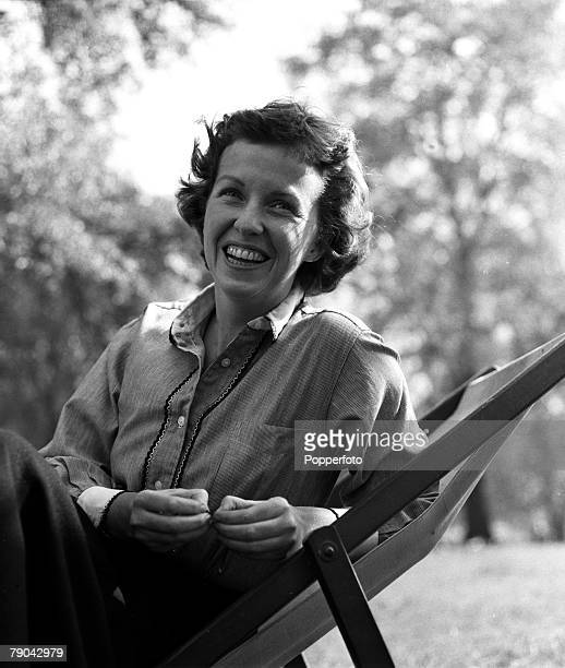 England A portrait of American actress Betsy Blair in a London park