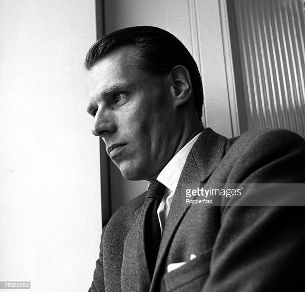 England A portrait of British music producer George Martin who went on to produce several of the albums by legendary pop group 'The Beatles'
