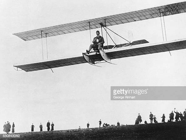 A Remarkable 'Glider' PhotoShowing Fokker Famous Inventor Making His First Motorless Flight In England This photojust received in this countryshows...