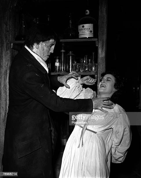 England A scene from the film The Curse of Frankenstein showing actor Christopher Lee and actress Valerie Gaunt