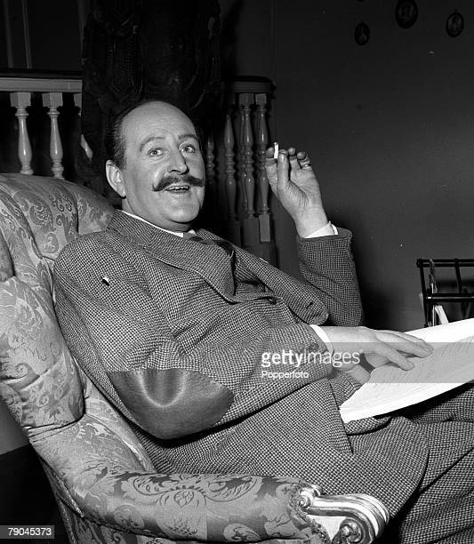 England Actor Cecil Parker is pictured on the set of the film The Constant Husband