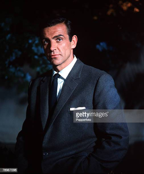 England Actor Sean Connery is pictured in the role of James Bond in the film 'Dr No'