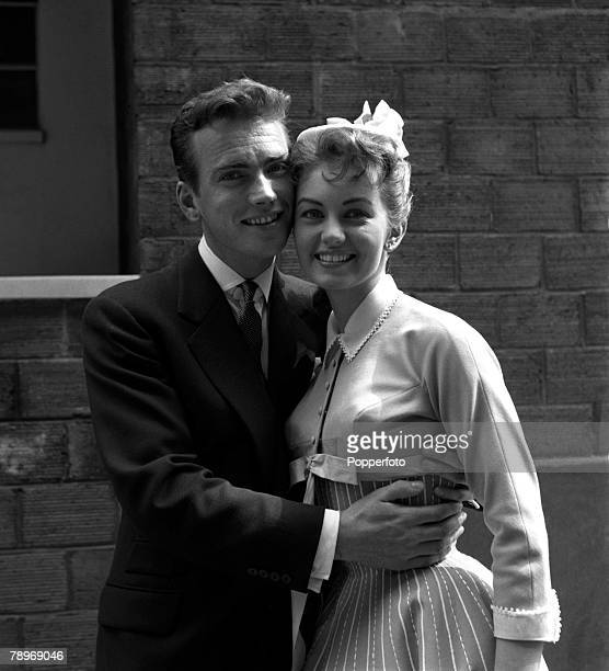 England Actors and singers John Fraser and Janette Scott are pictured at Elstree Studios for the new musical film The Good Companions