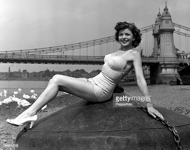 England, Actress, Joan Rice poses at Riverside Studios
