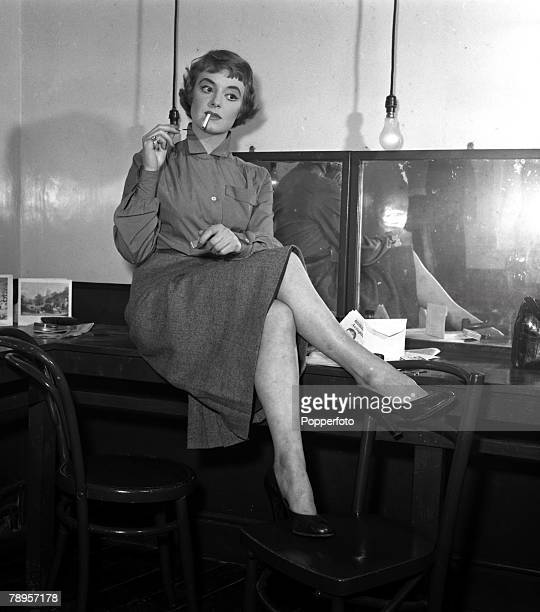England Actress Pauline Stroud is pictured in her dressing room