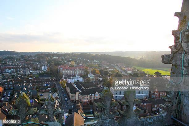 inglaterra : vista aérea de cromer - norfolk east anglia - fotografias e filmes do acervo