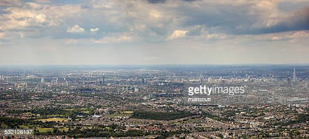 uk, england, aerial view of london - mattscutt stock pictures, royalty-free photos & images