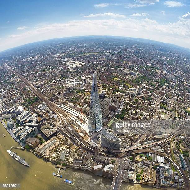 UK, England, Aerial view of Shard in London