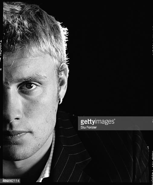 England all rounder Andrew Flintoff pictured at Old Trafford in April 2003, in Manchester, England.