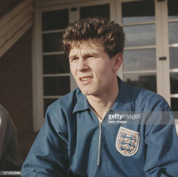 England and Bolton Wanderers forward Freddie Hill pictured in 1962 whilst on England duty