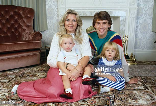 England and Manchester United captain Bryan Robson at home with his wife Denise and daughters Charlotte and Claire in Hale near Manchester 12th...