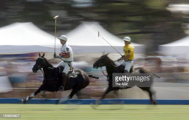 England and Southern Australia compete in THE AGE International Polo Tournament at Werribee Park on 12 February 2006