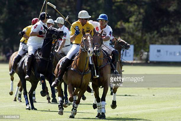 England and Southern Australia compete in THE AGE International Polo Tournament at Werribee Park