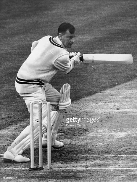 England and Surrey cricket captain Peter May in action 9th May 1958