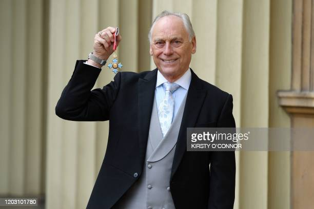 England and Wales Cricket Board chairman Colin Graves poses with his medal after he was appointed a Commander of the Order of the British Empire...