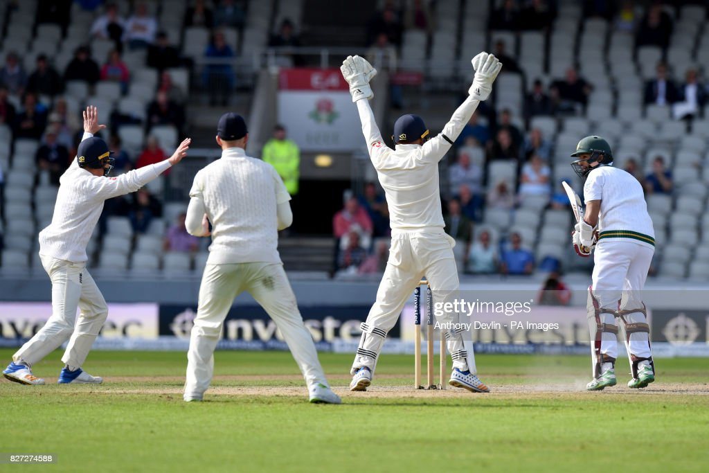 England v South Africa - Fourth Investec Test - Day Four - Emirates Old Trafford : News Photo