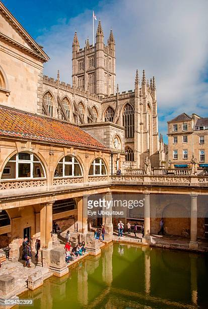 England Bath The Roman Baths the great bath the only hot springs in the UK