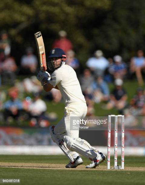 England batsman Alastair Cook picks up some runs during day three of the Second Test Match between the New Zealand Black Caps and England at Hagley...