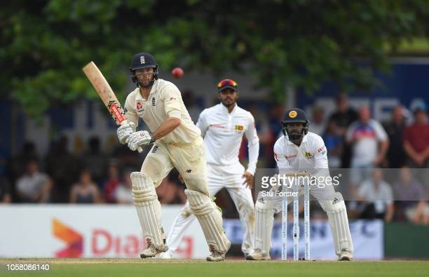 England batsman Ben Foakes picks up some runs during Day One of the First Test match between Sri Lanka and England at Galle International Stadium on...