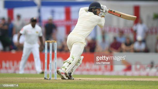 England batsman Ben Foakes picks up some runs during Day Two of the First Test match between Sri Lanka and England at Galle International Stadium on...