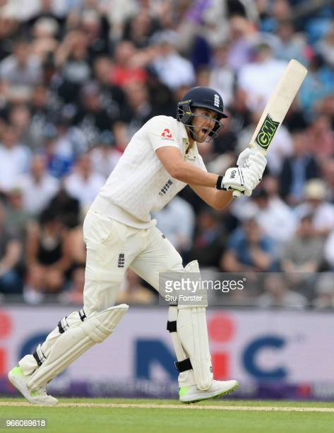 England batsman Dawid Malan in action during day two of the second test match between England and Pakistan at Headingley on June 2 2018 in Leeds...