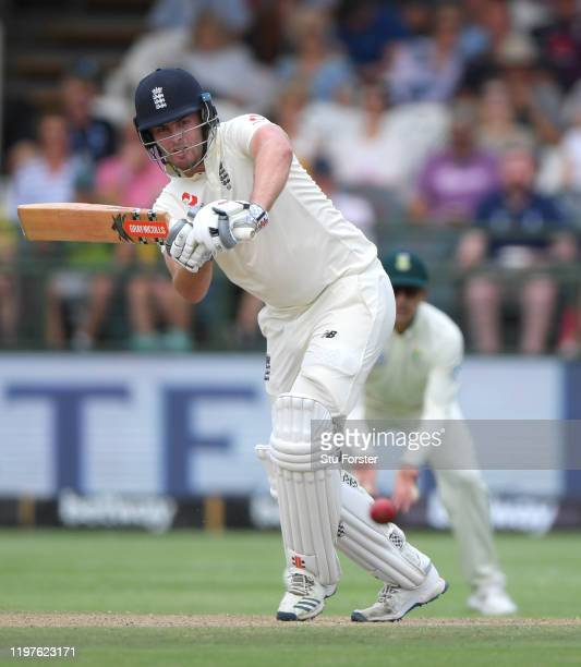 England batsman Dom Sibley drives to the boundary during Day Three of the Second Test between South Africa and England at Newlands on January 05 2020...