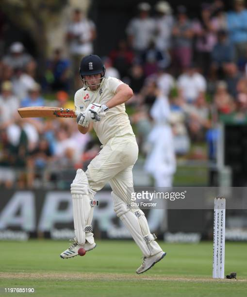 England batsman Dom Sibley picks up runs during Day Three of the Second Test between South Africa and England at Newlands on January 05 2020 in Cape...