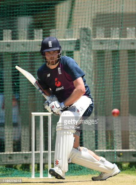 England batsman Dominic Sibley in action during England nets at Willowmoore Park during the England Media Access on December 16 2019 in Benoni South...