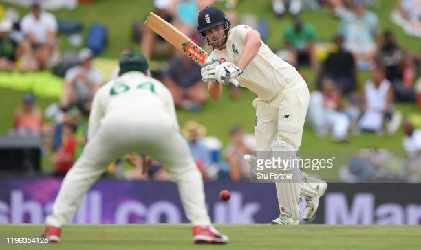 England batsman Dominic Sibley picks up runs during Day Three of the First Test match between England and South Africa at SuperSport Park on December...