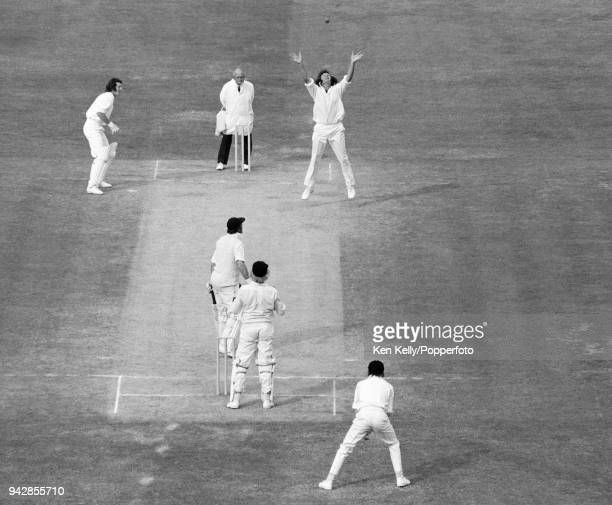 England batsman Geoff Boycott is dismissed, caught and bowled by Hedley Howarth of New Zealand, for 92 runs in the 2nd Test match between England and...