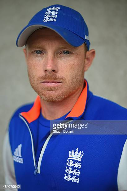England batsman Ian Bell poses for a portrait after an England nets session at Hagley Park Oval on February 22 2015 in Christchurch New Zealand