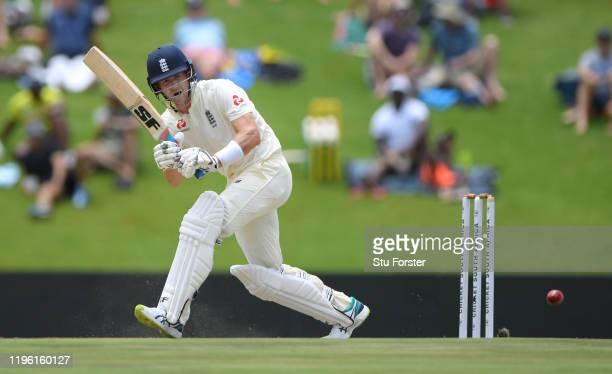 England batsman Joe Denly picks up runs during Day Two of the First Test match between England and South Africa at SuperSport Park on December 27,...