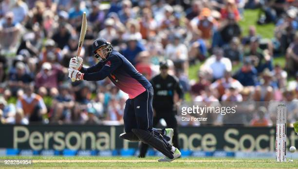 England batsman Joe Root picks up some runs during the 4th ODI between New Zealand and England at University of Otago Oval on March 7 2018 in Dunedin...