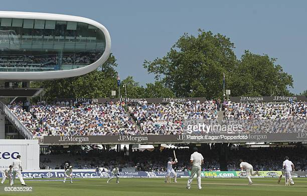 England batsman Jonathan Trott is caught for 58 off the bowling of Ryan Harris of Australia during the 2nd Test match between England and Australia...