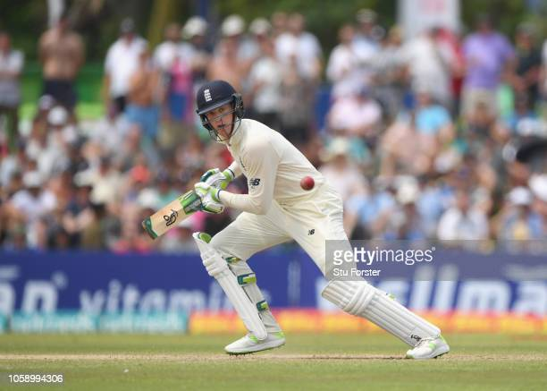 England batsman Keaton Jennings picks up some runs during Day three of the First Test match between Sri Lanka and England at Galle International...