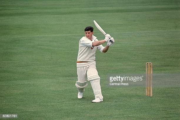 England batsman Ken Barrington , in action for Surrey County Cricket Club, 1966.