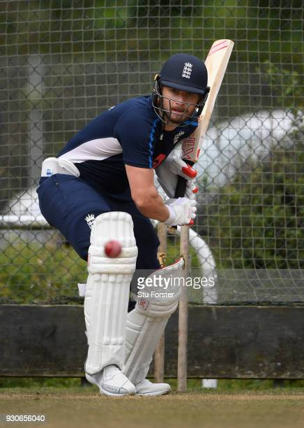 England batsman Mark Stoneman in action during England nets ahead of their first warm up match at Seddon Park on March 12 2018 in Hamilton New Zealand