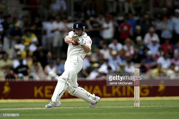 England batsman Paul Collingwood in Day One of the Second Ashes Test at the Adelaide Oval Australia December 1 2006