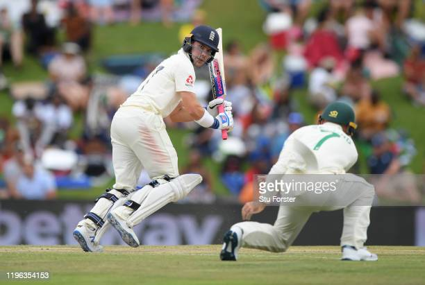 England batsman Rory Burns picks up runs during Day Three of the First Test match between England and South Africa at SuperSport Park on December 28...